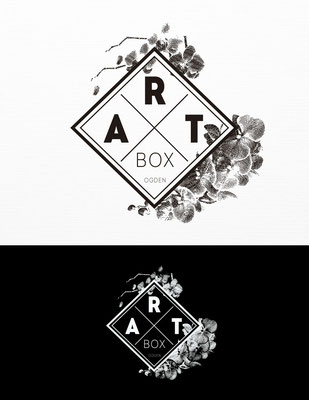 Propuesta de logo para Art Box, tienda de regalos, hogar, arte, jardín y alimentos gourmet | Logo proposal for Art Box, retail store with gifts, home goods, art, garden, and gourmet food sections