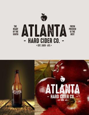 Propuesta de logo para Atlanta Hard Cider Co., una sidrería familiar en Atlanta, USA | Logo proposal for Atlanta Hard Cider Co., a family owned and operated hard cider producer located in the Atlanta, USA