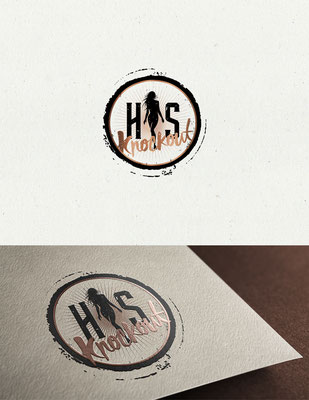 Logo para His Knockout, blog personal | Logo for His Knockout, a personal blog