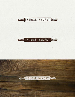Logo para Sugar Bakery, una pequeña panadería artesanal ubicada en Seattle, USA | Logo for Sugar Bakery, a small artisan bakery located in Seattle, USA