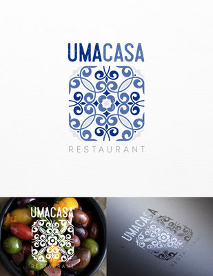 Propuesta de logo para Uma Casa, un restaurant contemporáneo Portugués ubicado en San Francisco, California | Logo proposal for Uma Casa, a contemporary Portuguese restaurant located in San Francisco, California