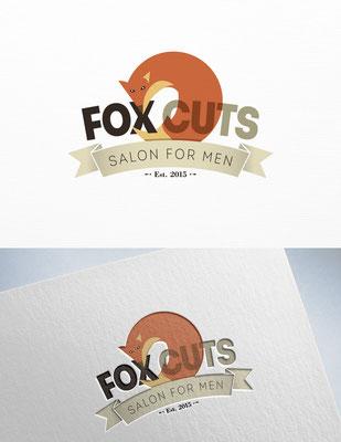 Propuesta de logo para Fox Cuts, una barbería | Logo proposal for Fox Cuts, a barbershop