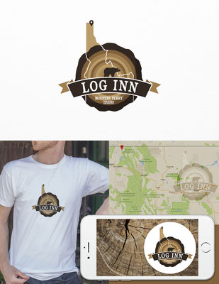 Propuesta de logo para Log Inn, posada de estilo rústico ubicada en  Idaho, USA | Logo proposal for Log Inn, a rustic feel Inn located in Idaho, USA
