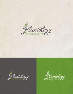 Propuesta de logo para Plantology, una compañía que provee únicos y personalizados diseños de plantas | Logo proposal for Plantology, a company that provides unique custom plant designs