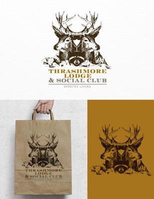 Propuesta de logo para Thrashmore Lodge, un sitio web sobre coctelería | Logo proposal for Thrashmore Lodge, a cocktail-culture website