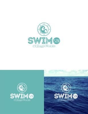 Diseño de logo para Swim Szn, una compañía que vende trajes de baño y accesorios para playa | Logo design for Swim Szn, a company that sells beach and swim apparel.