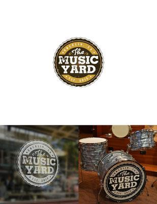 Propuesta de logo para The Music Yard, una tienda de música | Logo proposal for The Music Yard, a music store