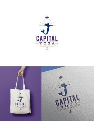 Logo para Capital Yoga, un estudio de yoga y bienestar | Logo for Capital Yoga, a yoga and wellness studio