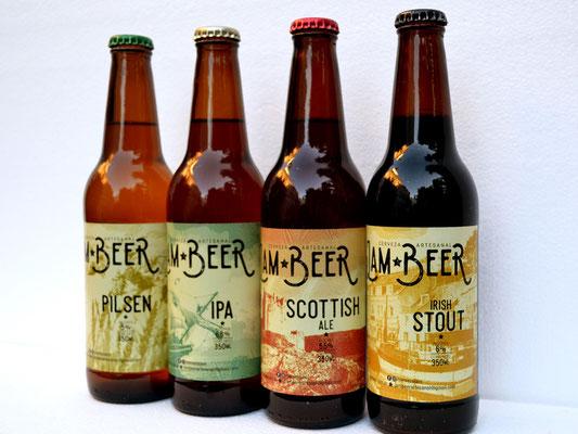 Los 4 estilos: Pilsen, IPA, Scotish Ale, Irish Stout / The 4 styles: Pilsen, IPA, Scotish Ale, Irish Stout