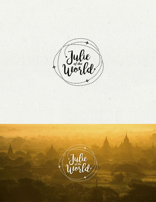 Logo para Julie of the World, un blog de viajes e inspiracional | Logo for Julie of the World, a travel and inspirational blog