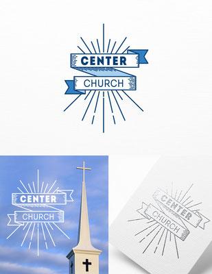 Propuesta de logo para Center Church | Logo proposal for Center Church