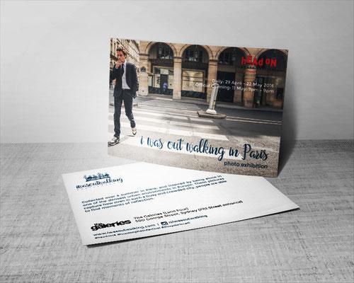 Postal para exhibición / Exhibition postcard