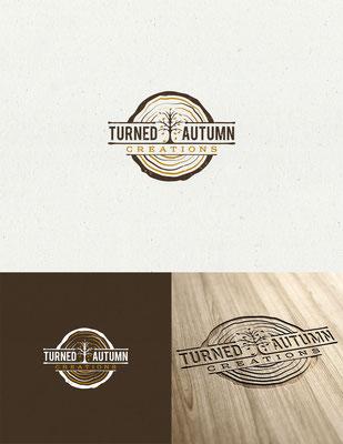 Diseño de logo para Turned Autumn Creations, un artista de la madera que necesitaba su logo personal | Logo design for Turned Autumn Creations, a woodworker that was looking for his personal logo