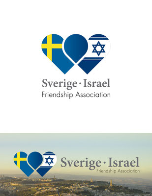 Logo para Sverige•Israel, una asociación amiga entre Suecia e Israel, ubicada en Suecia | Logo for Sverige•Israel, a friendship association between Sweden and Israel based in Sweden
