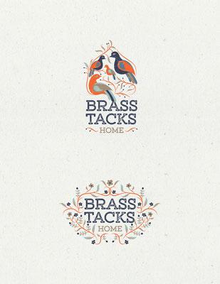 Propuesta de logo para Brass Tacks Home, una compañía que ofrece servicios de diseño de interiores | Logo proposals for Brass Tacks Home, a company that offers interior design services
