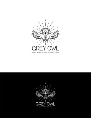 Propuesta de logo para Grey Owl Mind-Body Studio | Logo proposal for Grey Owl Mind-Body Studio