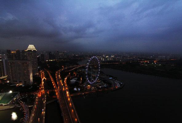 Ausblick vom Skypark - Marina Bay Sands
