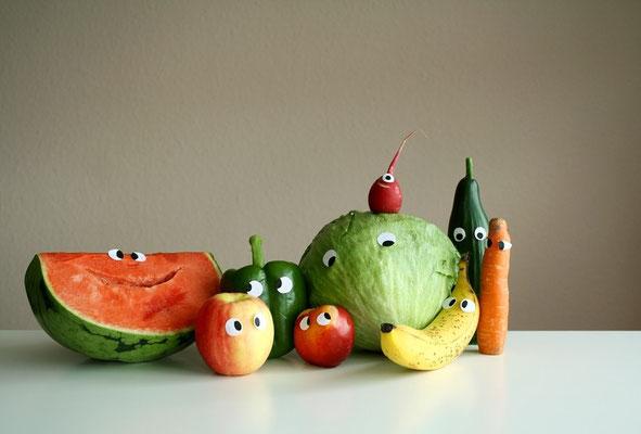 gesundes Familienporträt