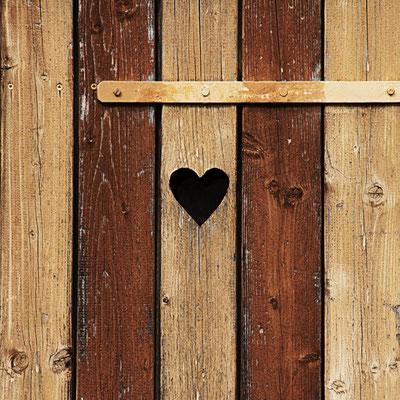 Herzchen Tür