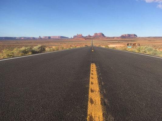 Sur la route de Monument Valley (Arizona)