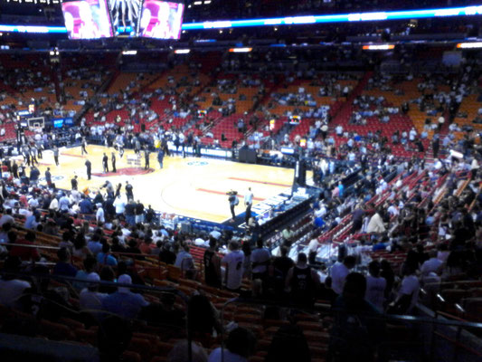 Into th American Airlines Arena