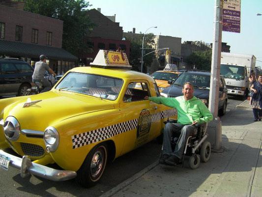 Vieux taxi à New York