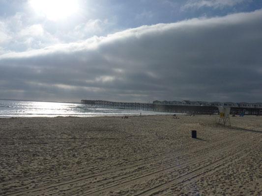 Vue sur le pier de Pacific Beach