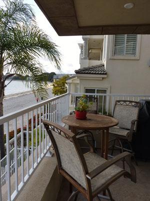 La terrasse de l'appartement