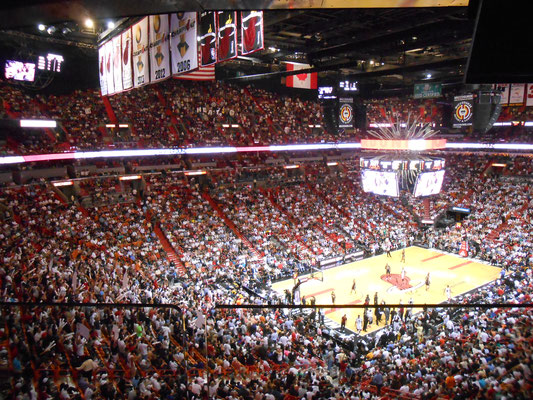 Into the American Airlines Arena