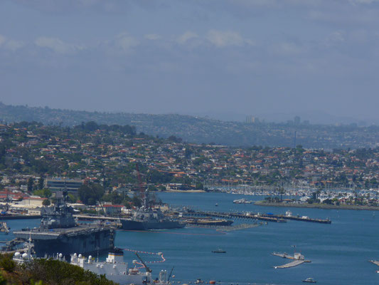 Vue du Cabrillo National Monument (base militaire)