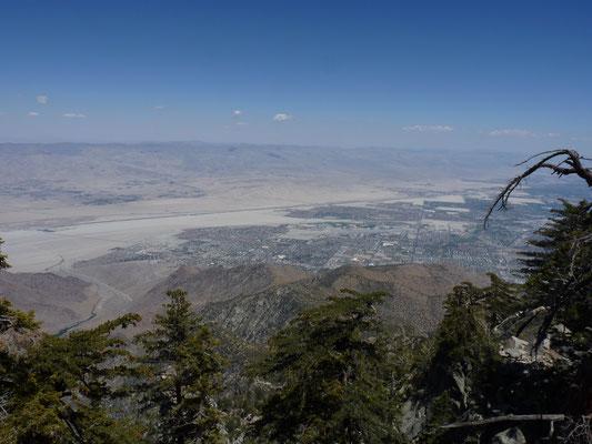 Mount San Jacinto, Californie (Vue sur la Palm Spring et la faille de San Andrea)
