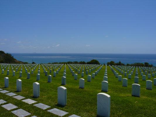 Vue du cimetière de Fort Rosecrans