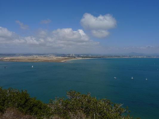 Vue sur San Diego du Cabrillo National Monument