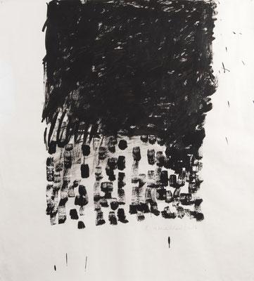 Black Rain, 2017. Gouache on paper. 115 x 100 cm.