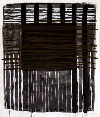Black Power, 2016. Acryl cellulose on paper. 120 x 100 cm.