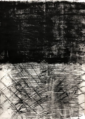 The gate, 2020. Acryl cellulose on paper. 110 x 70 cm.