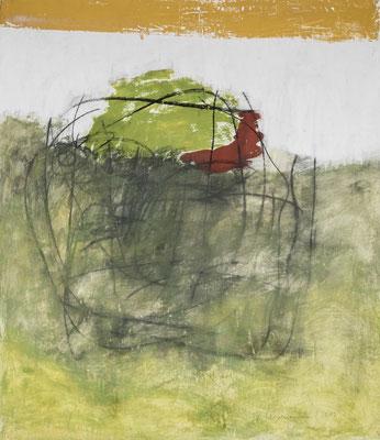 Growing Green, 2017. Gouache auf Papier. 115 x 99 cm.