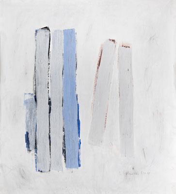 Light Stripes, 2018. Acryl-Cellulose auf Papier. 110 x 100 cm.