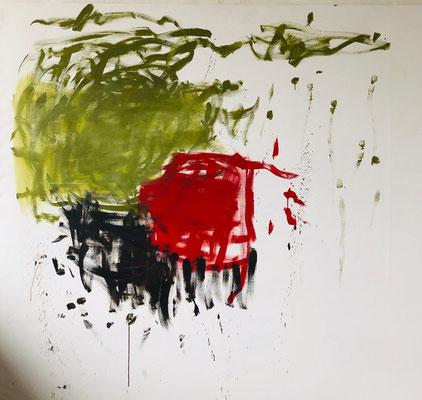 Diffusion III, 2019. Acryl auf Leinwand. 200 x 200 cm.