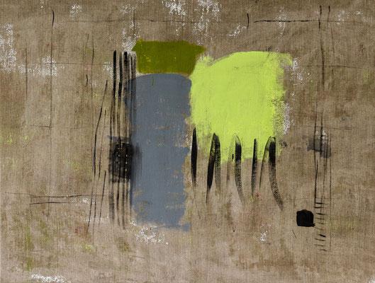 5/2015 Green, 2015. Acryl on burlap. 95 x 125 cm.