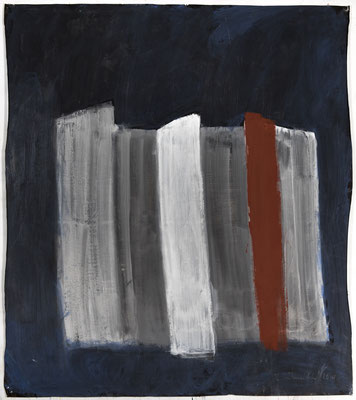 Stripes, 2018. Acryl cellulose on paper on canvas. 110 x 99 cm.
