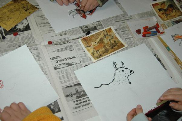 Activité dessin autour de la préhistoire