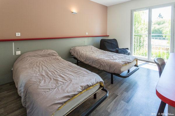 Les nouvelles chambres des nouveaux bâtiments du centre international de séjour de Montingnac Lascaux