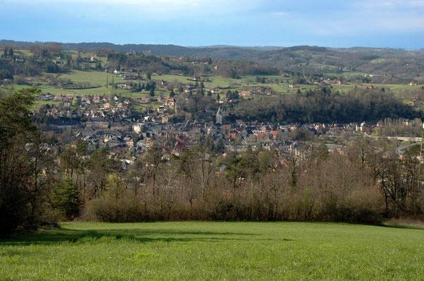 Montignac-Lascaux, vue depuis les hauteurs