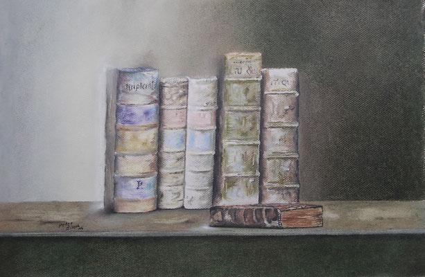 Corvey, Öl-Pastellkreide, 34 x 51 cm, 2016
