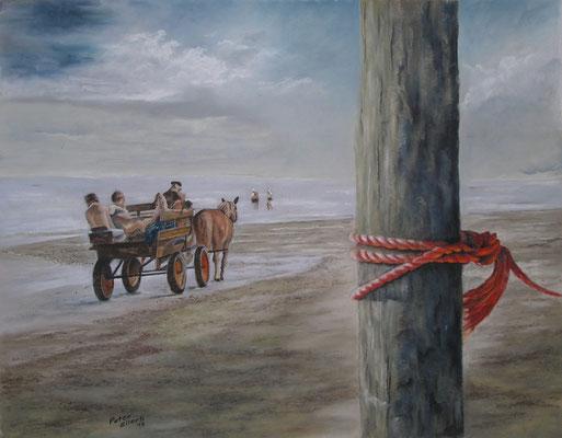 Kutschfahrt, Öl-Pastellkreide, 46 x 61 cm, 2013  Preis auf Anfrage
