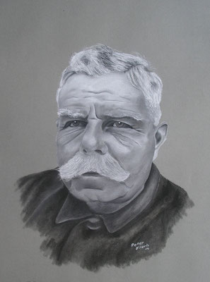 Ubbo der Friese, Zeichenkreide, 36 x 46 cm, 2012