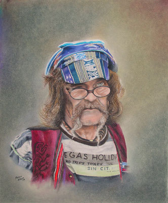 Udo, Öl-Pastellkreide, 47 x 57 cm, 2012  Preis auf Anfrage