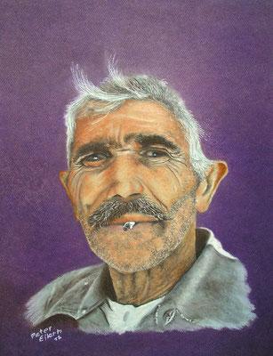 Begegnung, Öl-Pastellkreide, 38 x 48 cm, 2012