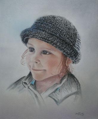 Johanna, Öl-Pastellkreide, 29 x 35 cm, 2015  verkauft